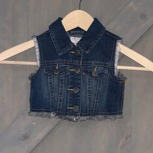 The Children's Place Sleeveless Jean Vest 18-24M